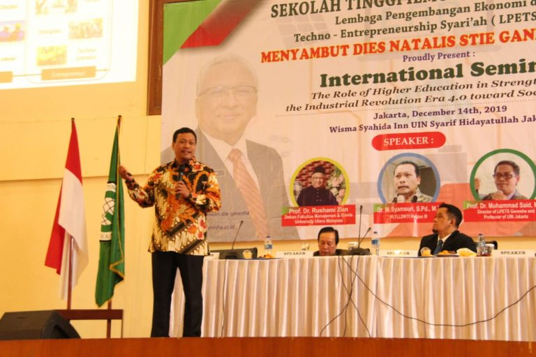 Dies Natalis ke- XXVI, STIE Ganesha Selenggarakan Seminar Bertajuk 'Strengthening Role of Higher Education in the Industrial Revolution 4.0 and 5.0 Society'